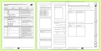 Year 4 Maths Assessment: Addition and Subtraction Term 3 - year 4, maths, assessment, addition, subtraction