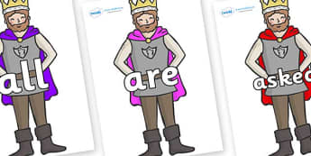Tricky Words on Kings - Tricky words, DfES Letters and Sounds, Letters and sounds, display, words