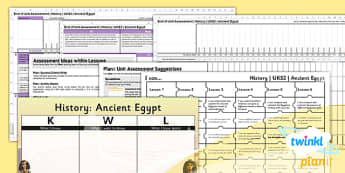 PlanIt - History UKS2 - Ancient Eygpt Unit Assessment Pack - assessment, record, data, baseline, nation, pack, objectives, criteria, success, national, curriculum,