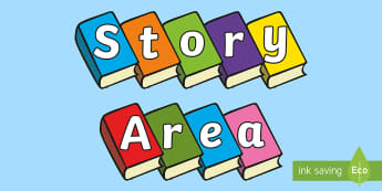 Story Area on Books Display Cut Outs - story, story area, books