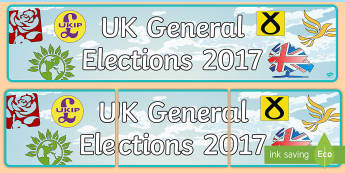 UK General Elections 2017 Display Banner - uk general election 2017 ukip, uk independence party, labour, conservative, liberal democrat, scotti