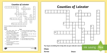 Counties of Leinster Crossword - ROI - The World Around UsWAU,Irish