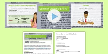 Common Grammar Errors Lesson Pack - grammar, SPaG, common, errors, lesson pack