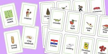 Three Syllable CR Playing Cards - three syllable, cr, playing cards, play, cards, cr sound
