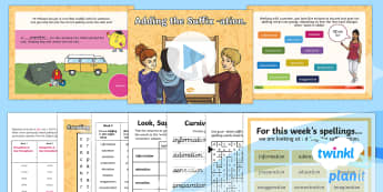 PlanIt Y4 Term 2A W3: Nouns Ending in -ation Suffix Spelling Pack - Spellings Year 4, Y4, spelling, SPaG, GPS, statutory, suffix, suffixes, ation, nouns, lists, weekly,