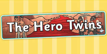 The Hero Twins Mayan Civilization Story Display Banner - maya