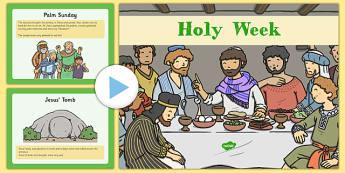 Holy Week PowerPoint - Holy Week, Jesus, Easter, ordering