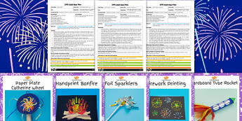 EYFS Bonfire Night Craft Activities with Accompanying Planning Pack - bonfire night, craft, eyfs