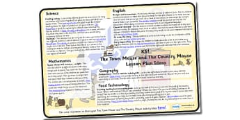 The Town Mouse and The Country Mouse Lesson Plan Ideas KS1 - the town mouse and the country mouse, town mouse and country mouse lesson plan, lesson ideas