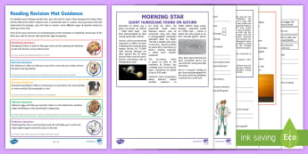 Y5 Reading 2 Revision Activity Mat Pack 2 - Comprehension, Inference, Retrieval, Story, Narrative, Non-fiction, Poetry, Poem, Science, Space, Su