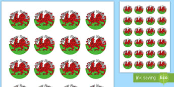 Helpwr Heddiw Welsh Dragon Badges - Helpwr Heddiw, Special Helper, Helper, Helpwr Heddiw Badge, Helpwr y Dydd, Helpwr, Welsh Second Lang