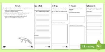 Newts Activity Sheets To Support Teaching On Matilda, Chapter 12 - newts, reading activity, fact file activity, chapter chat, chapter chat year 3 & 4, matilda, Roald D