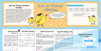 PlanIt Y4 Term 2A Assess and Review Spelling Pack - Spellings Year 4, Y4, spelling, SPaG, GPS, review, assess, check, weekly, lists, assessment, Mr Whoo