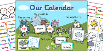 Fantasy Themed Display Calendar - fantasy, display, calendar