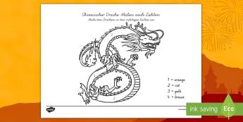 Chinesischer Drache Malen nach Zahlen - Chinesicher Drache malen nach Zahlen, Malen nach Zahlen, Chinesicher Drache, Chinesisches Neujahr, N