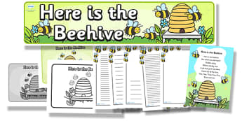Here is the Beehive Resource Pack - here is the beehive, resource pack, pack of resources, themed resource pack, here is the beehive pack, nursery rhymes