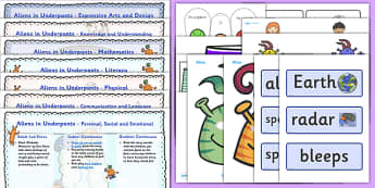 Lesson Plan and Enhancement Ideas EYFS to Support Teaching on Aliens Love Underpants - aliens love underpants, EYFS, lesson plan, lesson plan ideas, lesson ideas, lesson planning, teaching plan