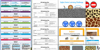 EYFS Safari Themed Bumper Planning Pack - Safari, early years planning, adult led, continuous provision, enhancements,