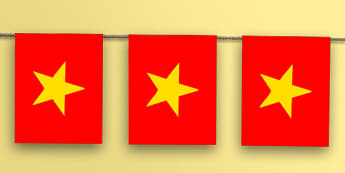 Vietnam Flag Bunting - world, geography