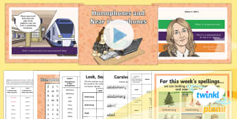 PlanIt Y5 Term 2A W4: Homophones and Near Homophones Spelling Pack - Spellings Year 5, Y5, SPag, GPS, homophones,near homophones, weeks, weekly, pack, statutory, rule, s