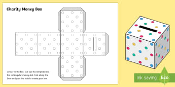 Money Box Cube Activity