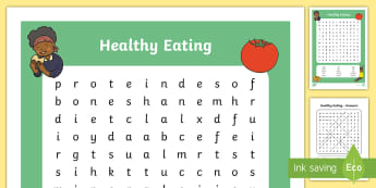 Healthy Eating Word Search - healthy eating, healthy living, healthy eating word search, healthy eating wordsearch, word search, wordsearch, health, words