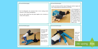 Duet Contact Work Choreography Activity Cards  - contact work, duet, KS3 Dance, KS4 Dance, creative dance, choreography,
