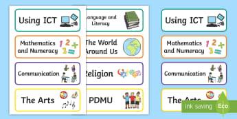 Northern Ireland Subject Organisation Drawer Labels - Northern Ireland Classroom Organisation, labels, display, subjects, drawer