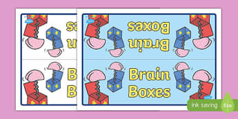 Brain Boxes Group Table Signs - Brains, Group, Table, Sign, Box