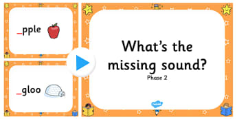 What's The Missing Phase 2 Initial Sound PowerPoint-missing sound, phase 2, phase two, powerpoint, phase, phase powerpoint, letters and sounds
