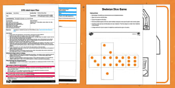 EYFS Skeleton Dice Game Adult Input Plan and Resource Pack