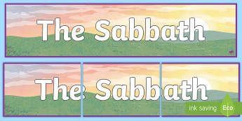 The Sabbath Day Display Banner - sunday, saturday, shabbat, day of rest, 7th day,