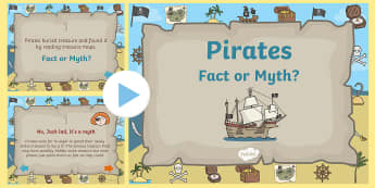 Pirate 'Fact or Myth?' Quiz Game - pirates, pirate powerpoint, pirate game, pirate quiz game, pirate fact or myth quiz, pirate fact or myth game