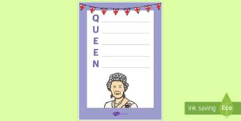 The Queen's Birthday: Queen Acrostic Poem - Australia English: The Queen's Birthday, Queen, acrostic poem, poetry, royal,Australia