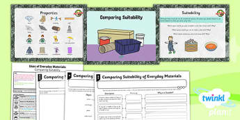 PlanIt - Science Year 2 - Uses of Everyday Materials Lesson 3: Comparing Suitability Lesson Pack