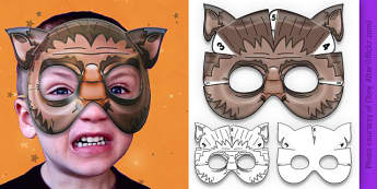 3D Halloween Werewolf Monster Mask - 3d, halloween, werewolf, monster, mask