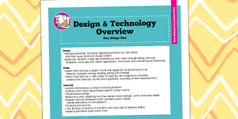 2014 Curriculum KS1 Design and Technology Overview - KS1 plan