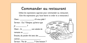 Commander au restaurant French - french, commander, au restaurant, language, restaurant