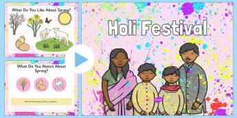Holi Assembly PowerPoint - UKS2, LKS2, negative, positive, number, zero, forwards, backwards, context, calculate