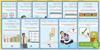 Maths Problem Solving Strategies A4 Display Poster