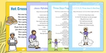 Posters d'affichage : Les chansons et chants de Pâques - Anglais LV