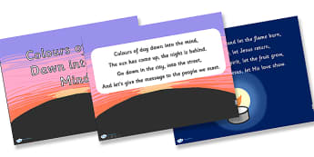 Colours of Day Dawn into the Mind Hymn Lyrics PowerPoint - colours of day dawn into the mind,  hymn, powerpoint, lyrics powerpoint, hymn powerpoint