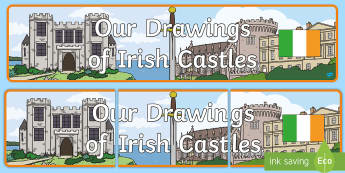 Our drawings of Irish Castles Banner - ROI - The World Around UsWAU, Irish