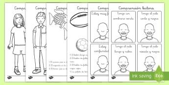 Ficha de actividad: Comprensión lectora - comprensión lectora, comprensión de lectura, lectura, colorear, pintar, leer, lectura, instruccion