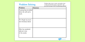 Resolutions Problem Solving Writing Frames - resolutions problem solving, writing frames, resolutions, problem, solving, solve problems, solutions, writing template, writing frames, word cards, flashcards, template, finding solutions