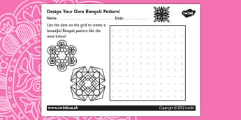 Diwali Rangoli Pattern Design Template - diwali rangoli, diwali, pattern design, diwali pattern, drawing, colouring, design worksheet, diwali worksheet