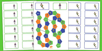 Basketball Themed Editable Board Game - usa, basketball, nba, national basketball association, editable, board game