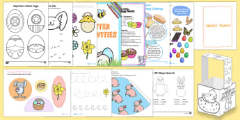 EYFS Easter Home Learning Activity Pack - easter, easter bunny, easter craft, easter party, easter activities