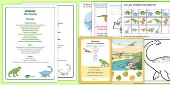 Dinosaurs Quiet Time Box - Dinosaurs, table top activities, childminder, quiet time,