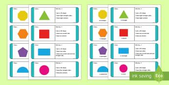 KS1 2D Shape Riddle Loop Cards - Riddes, Shape Riddles, Loop Cards, KS1, Key Stage One, Key Stage 1, Year 1, Year 2, Shapes, 2D Shape